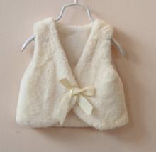 2015 fake rabbit fur vest, vests for girls, kids clothes fur vest