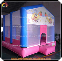 competitive price airflow bouncer , air bouncer inflatable trampoline , inflatable spongbob bouncer
