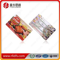 Promotional plastic rfid printing card