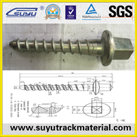 Railroad screw spike