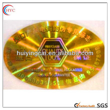 2014 Cheap pvc label sticker, sticker rolls ,color changing heat activated sticker