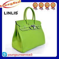 Latest design high fashion women good shop handbags genuine leather 2015