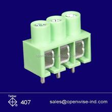 Cheap 3.5mm pitch 5 pins green PCB terminal block