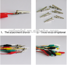 crocodile clip with cable 50cm red/black/white/green/yellow 5 colors mixed Alligator clamp test lead