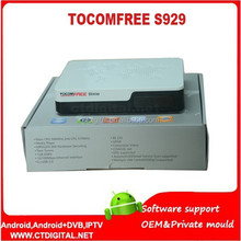 satellite tv receiver decoder tocomfree s929 twin tuner rceiver box iks and sks tocom free s929 hd decodificador tocom free