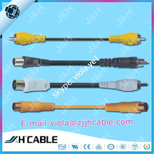RCA to RCA TV female to TV male TV to RCA audio cable RG59 3c2v