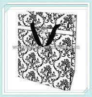 gift paper bag large size 26*32*12 cm /with 157gsm art paper/ribbon handle