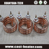 industrial heater flexible coil oil/water heating element