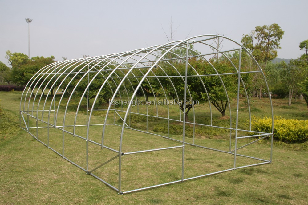 Reinforced 6x3x2m Galvanized Steel Frame Polytunnel Greenhouse - Buy ...