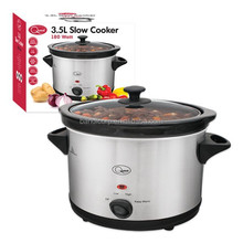 Electric Slow Cooker 3.5L Oval Shape with 180W with GS/CE/ETL/UL with ceramic port 3 heat setting Low High and keep warm