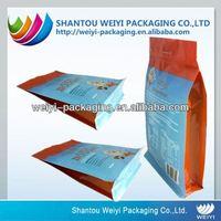bottom plastic bags / flat bottom plastic bags / food bag with zip lock