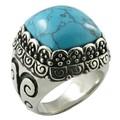 de compromiso de boda de piedras preciosas de la moda dedo anillo de acero inoxidable