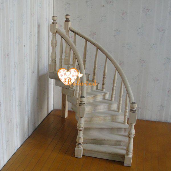 9662 llano de madera en miniatura casa de mu ecas de escalera - Casas en miniatura de madera ...
