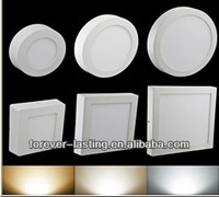 Wholesale Cheap 6W 12W 18W warm white pure white Round Square Shape Surface mounted LED panel lights