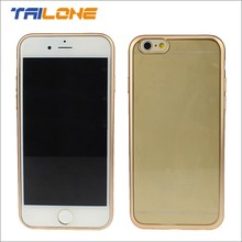 Metal outlook TPU case for iphone 6 cover