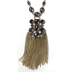 artificial imitation Fashion long chain tassel women statement vintage necklace