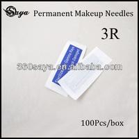 Super Permanent Makeup Pen Needles Sterilized Round For Eyebrow Lip