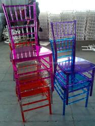 Modern Appearance clear resin chiavari chair