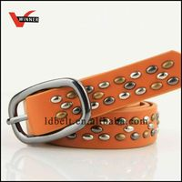 Popular unique fashion ladies belt with oval studs