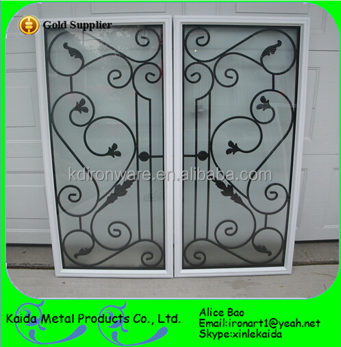 Modern french sliding window steel window grill design for Modern zen window grills design