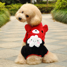 custom red check pattern little bear lovable pet dog clothes