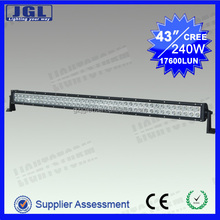 JGL top end high quality led light bars! long lifespan straight light bar double bar cree chip