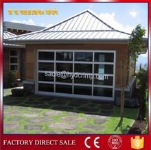 YQG-02 automatic aluminum frame glass garage door, electric garage door lock