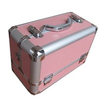Simple Pure Color Hard Metal Cosmetics Case For Salons VC-0522D