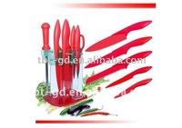 Teflon coated kitchen knife set