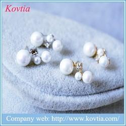 New design kundan jhumka earrings freshwater pearl earrings women accessories china