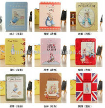 Peter rabbit cartoon leather case for ipad mini air 2 3 4, for ipad case cartoon, for ipad mini case leather