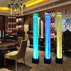 wedding party led round acrylic tube tuning light aquarium event lighting