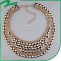 Multicolor - de plástico de la cadena de cuentas de collar de joyería de las nuevas mujeres de hombre de moda collar de dólar collar de cadena