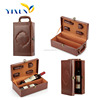 high-end popular new design wooden wine case for two bottles