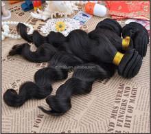 China's real shunfa cut the original have a curtain Screw Loose piece wavy Human Hair natural color