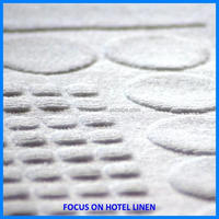 100% cotton white hotel bath floor mat 50cm x 70cm hotel used towel