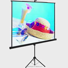Floor Pull Up Projection Screen , Protable Tripod Projector Screen