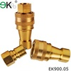 copper Fuel Line Quick Connector,Brass Quick Connect Hydraulic Coupler,spring coupling