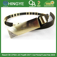 Long Size Rhinestone Buckle PU Belt -- E1502