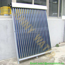 Evacuated tube solar collector heating 200 liter water per day