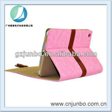 belt buckle leather case for ipad mini with stand design