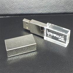 Wholesale new design crystal glass USB Flash Drive with LED Light 32gb usb flash drive