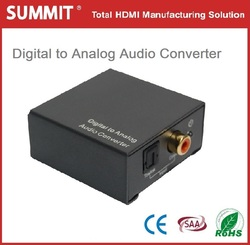 Digital to Analog Audio over Toslink Cable Converter Optical to RCA