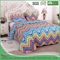 printed Box Stitch 100% Polyester Down Alternative Comforter
