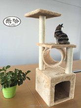 Dspet indoor Cat Tree Scratcher Pet Furniture Sisal Post scratch Kitten Tree Hidden House with hanging ball