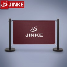 Customed Colored Wood Barrier With Banner For Access Control System
