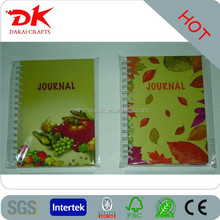 Classical design felt cover note book/memo book, diary book