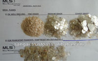 Mica flakes for oil well drilling