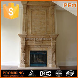 natural marble china quartz fireplace surrounding