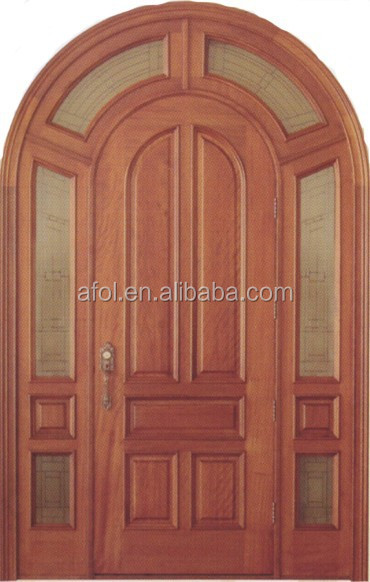 Zhejiang AFOL Solid wood entry model main door with painting interior solid wood double doors
